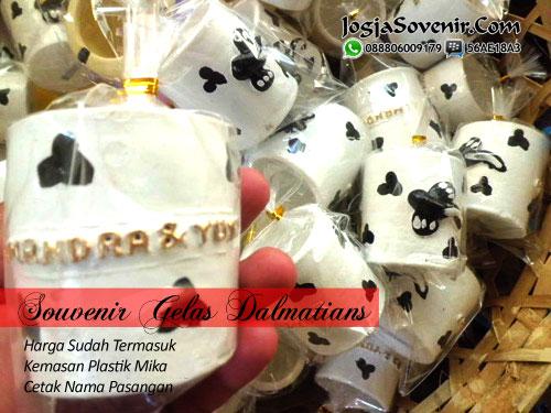 Jual Souvenir Gerabah Gelas Dalmatians