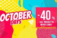 Logo Pittarello October Days : -40% di sconto sul prodotto meno caro!