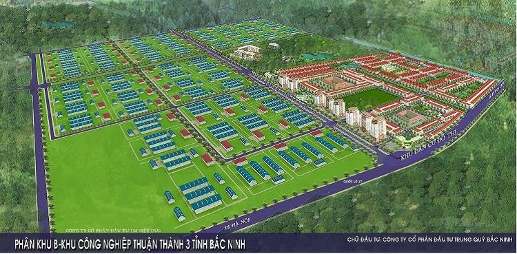 Tổng quan quần thể khu công nghiệp đô thị Thuận Thành 3