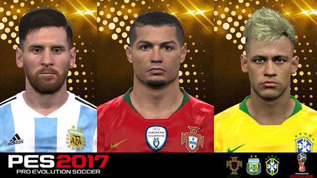 PES 2017 World Cup 2018 Stars Facepack