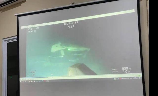 Los restos del submarino KRI Nanggala se encuentran a aproximadamente 840 m de profundidad