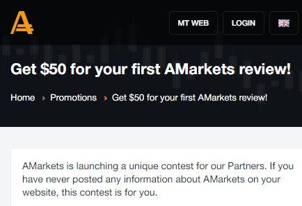 AMarkets $50 Forex No Deposit Bonus - Review