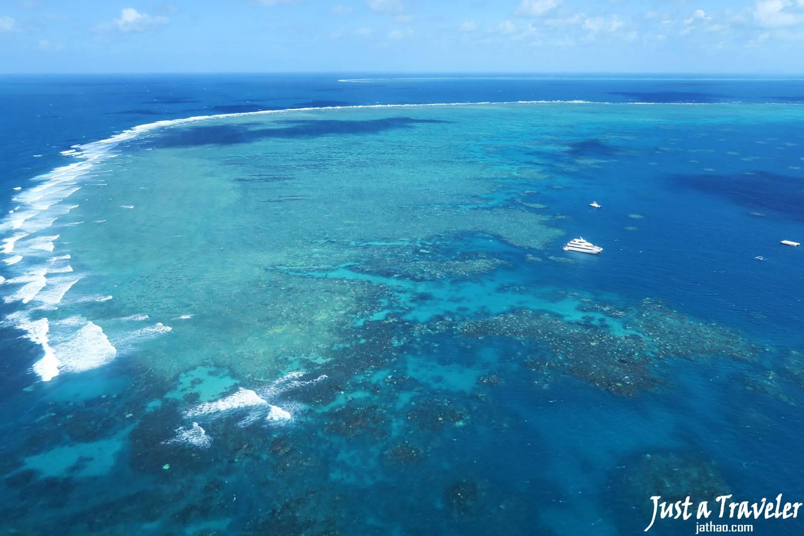 凱恩斯-大堡礁-外堡礁-推薦-公司-行程-旅遊-直升機-自由行-澳洲-Cairns-Outer-Great-Barrier-Reef-helicopter-Travel-Australia
