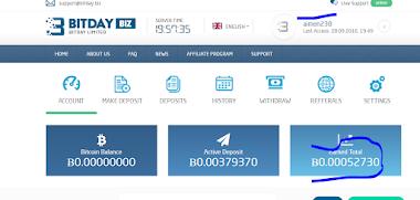 إثبات الدفع من موقع استثمار البيتكوين bitday رهيب #لم يعد يدفع