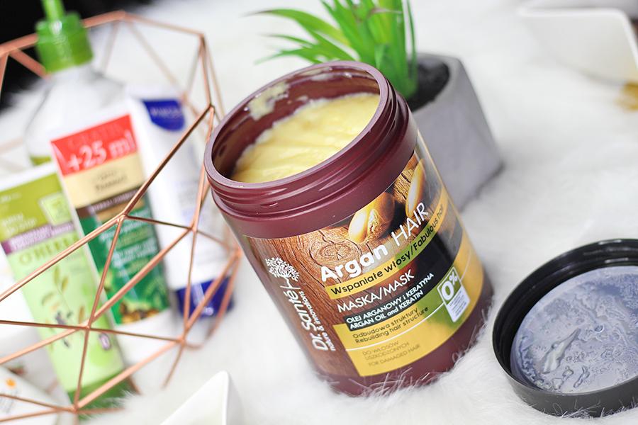 Kremowa maska regenerująca do włosów z olejem arganowym i keratyną  Dr. Santé