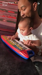 John Legend Adorably Teaches Baby Luna How to Play the Piano