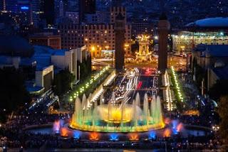 Green Pear Diaries, fuentes, Fuente Magica de Montjuic, Barcelona