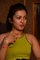 Actress Catherine Tresa Pos during Self Dubbing for Gautham Nanda Movie  0069.JPG