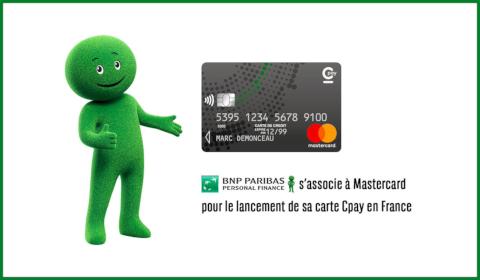 BNP Paribas Personal Finance s'associe à Mastercard pour le lancement de sa carte Cpay en France