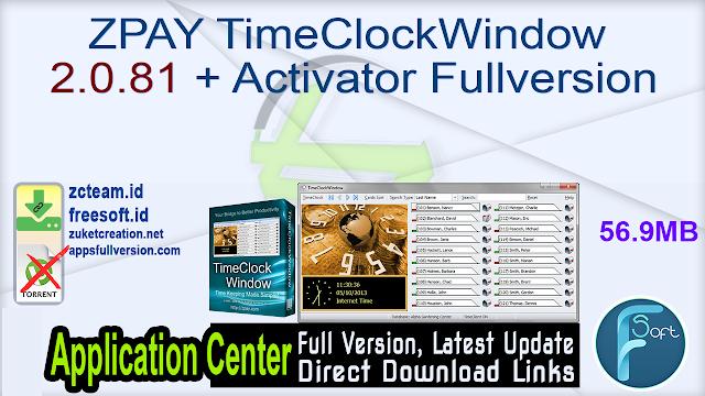 ZPAY TimeClockWindow 2.0.81 + Activator Fullversion