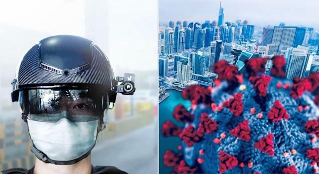 A smart helmet to detect Coronavirus cases in the Emirate of Dubai