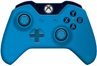 blue xbox one controller