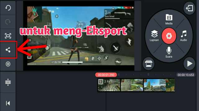 cara menyimpan video di kinemaster