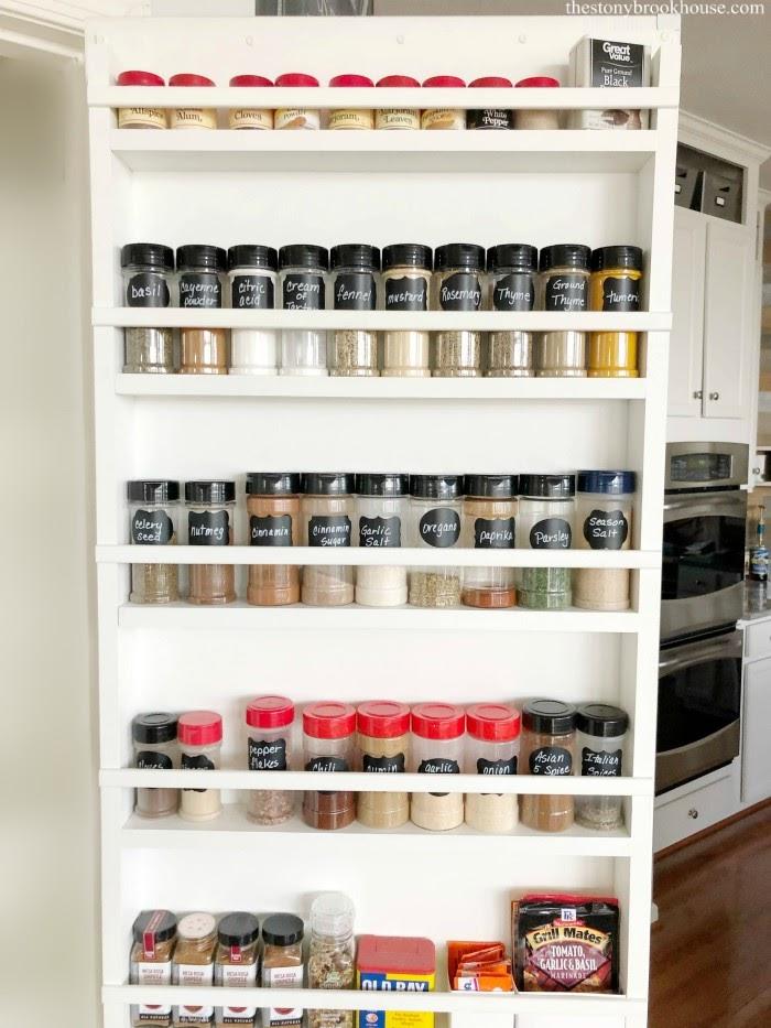 Pantry Door Spice Organizer
