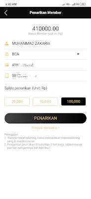 penukaran uang tunai akun member VIP Aplikasi Newscat