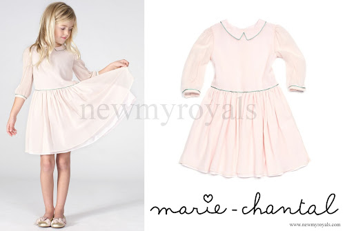 Princess Estelle wore MARIE CHANTAL Piped Dress