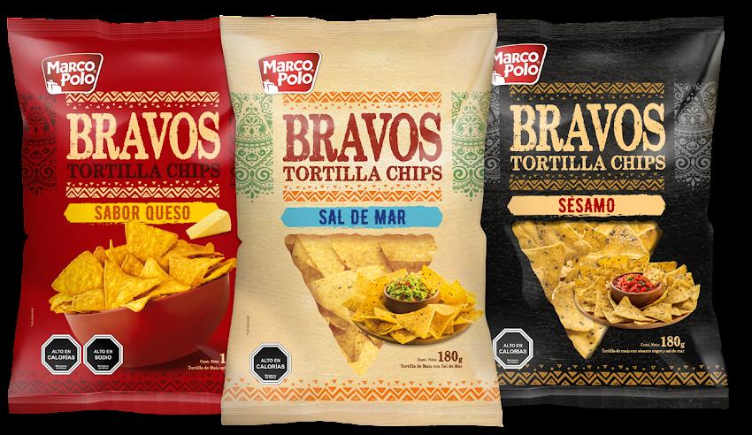 Descubre las Bravos Tortilla Chips de Marco Polo! [Comunicado de Prensa]