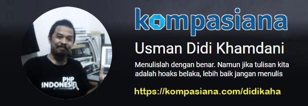 Blog Kompasiana Usman Didi Khamdani