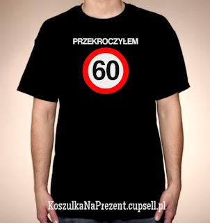 Koszulka Przekroczyłem 60