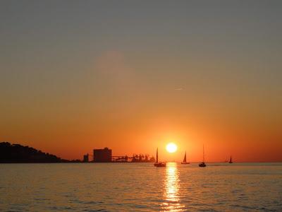 リスボンの海沿い