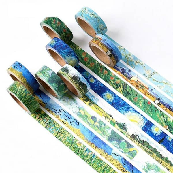 Van Gogh patterned washi tape collection