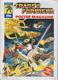 Transformers The Movie Poster Magazine