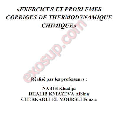 ThermoChimie 55 Exercices Corrigés SMPC S1