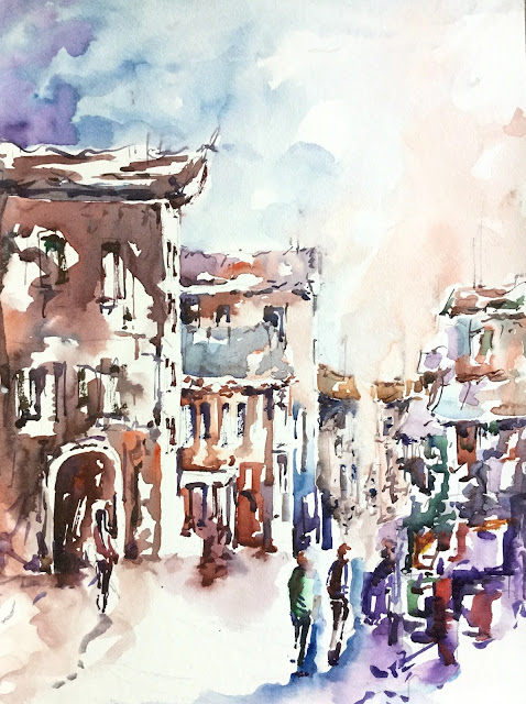 The Meeting Place watercolor