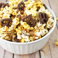 Choc Caramel Pretzel Popcorn