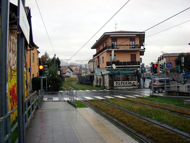 Kolejka miejska którą dojeżdżałyśmy z obrzeży Bergamo