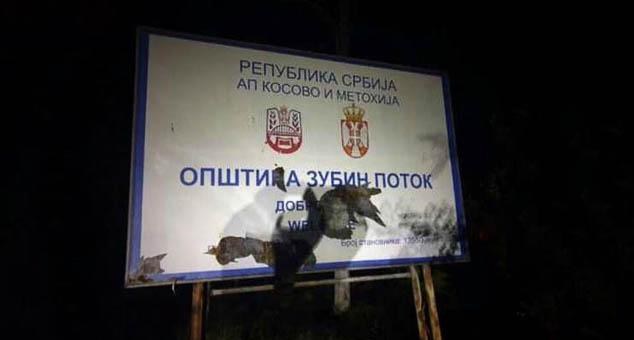 #Tabla #Zubin #Potok #Kosovo #Metohija #Srbija #Separatisti #kmnovine