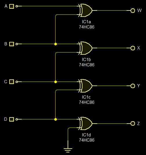 Electronics Emporium: Binary to Gray-code converter