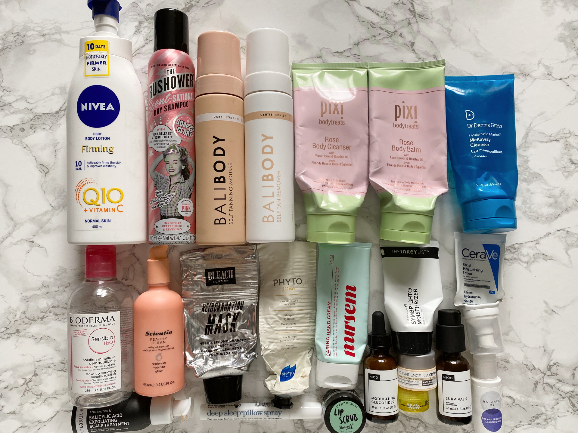 product empties and reviews