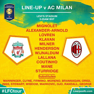Pada pertandingan kedua di ajang International Champions Cup di Levi Berita Bola Review Liverpool FC 2 - 0 AC Milan International Champions Cup