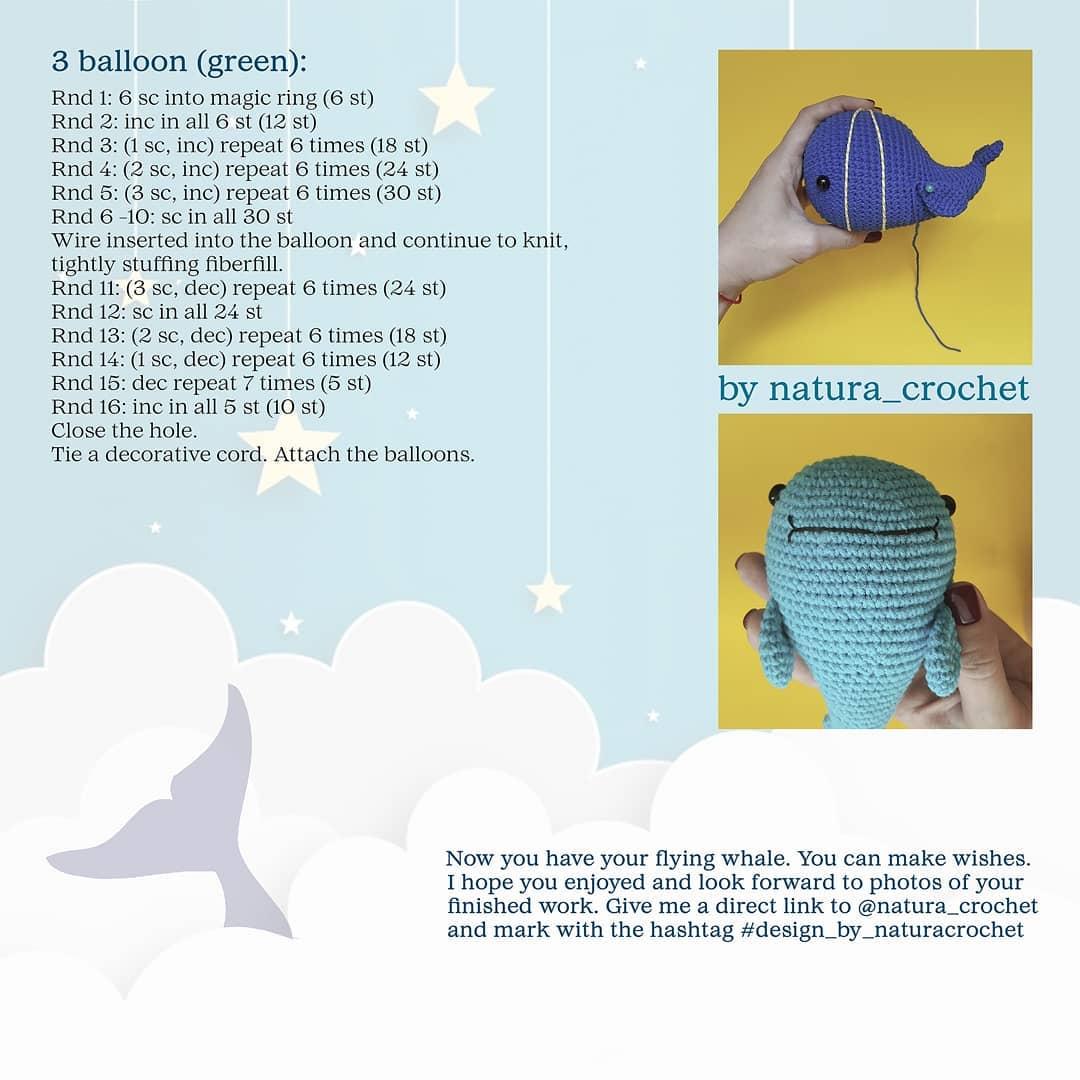 Amigurumi whale tutorial