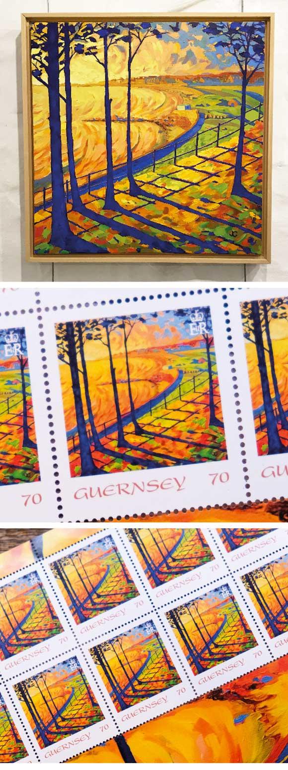 Guernsey stamp art