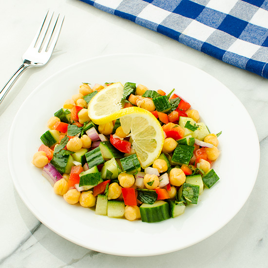 Moroccan-Spiced Cucumber and Chickpea Salad