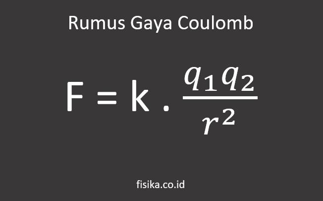 rumus gaya coulomb