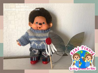 kiki monchhichi singe monkey like a fairy