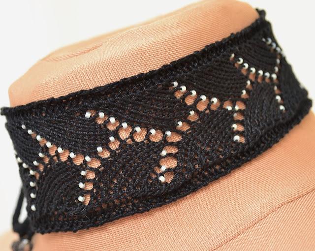 Beaded Lace Choker Knitting Pattern
