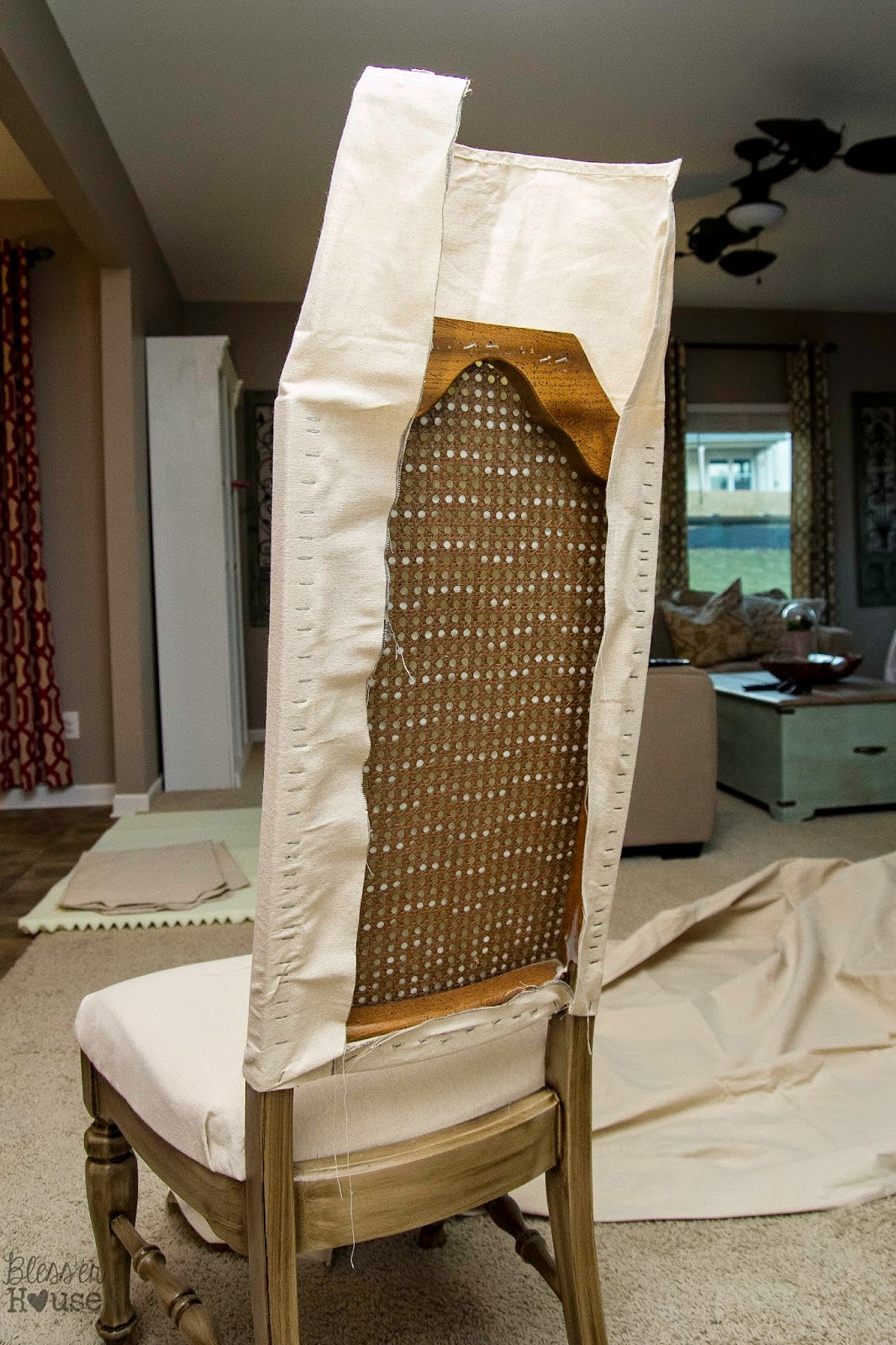 Knock Off No Sew Dining Chairs - Bless'er House