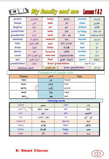 تحميل مذكرة لغه الانجليزيه أولى اعدادى ترم أول 2021 لمستر محمد الشعراوي