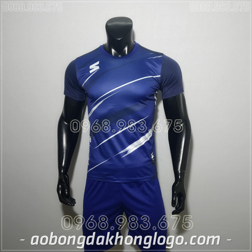Áo bóng đá không logo TL Zavikia  màu xanh