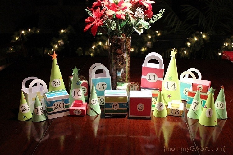 christmas holiday village diy advent calendar
