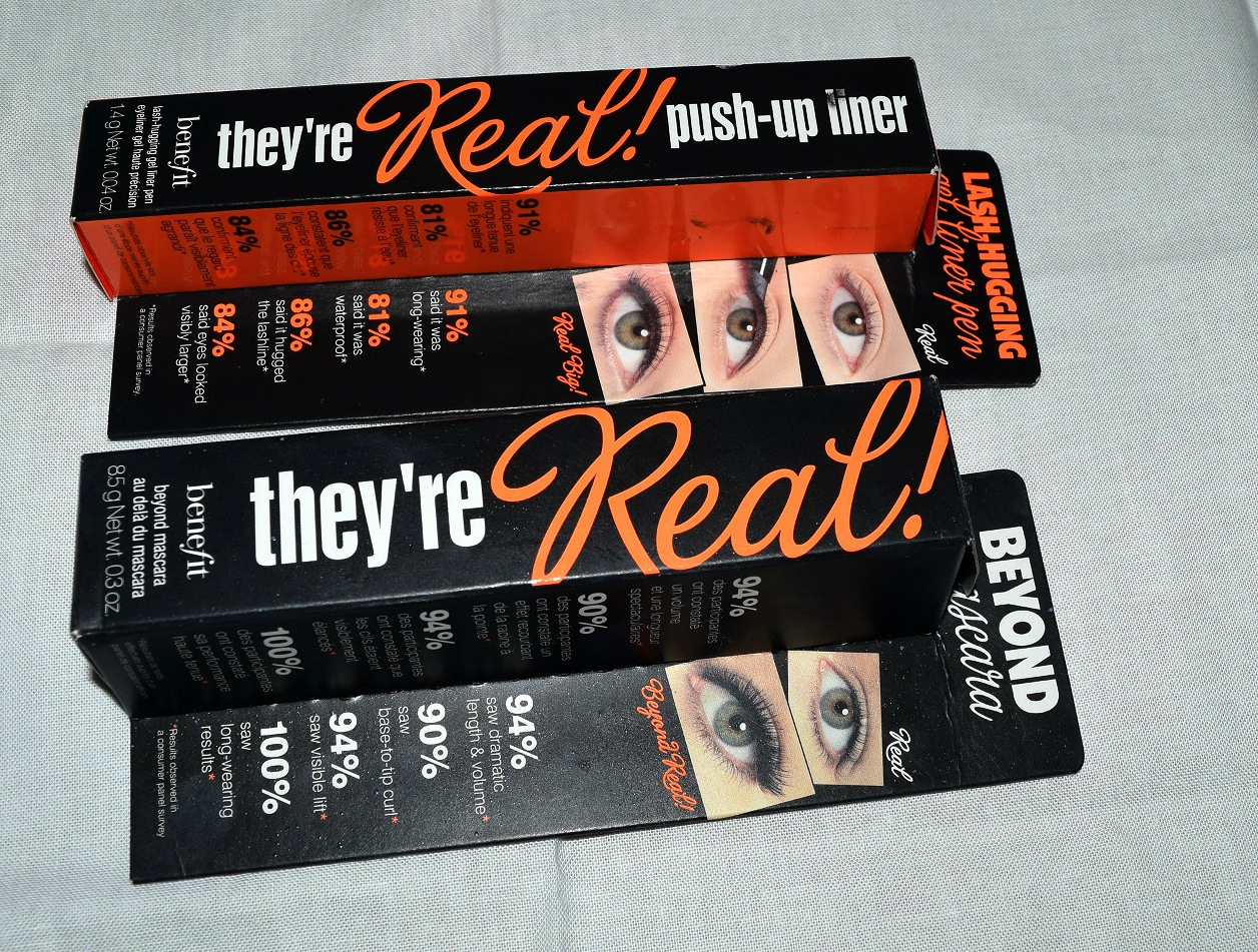 Benefit Cosmetics: They're Real! Mascara and Push-up Liner.