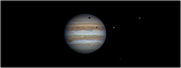 Eclipse Solar Duplo em Júpiter
