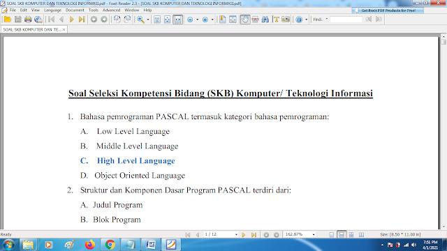 Download contoh soal pppk skb komputer dan teknologi informasidan kunci jawaban