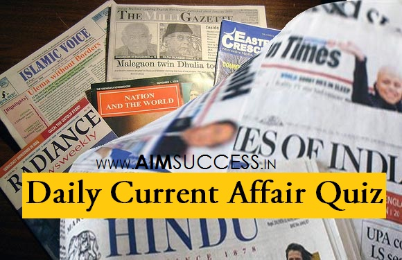 Daily Current Affairs Quiz: 01 June 2018