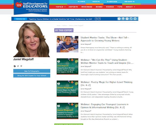 Links to Janiel Wagstaff's SDE FREE webinars