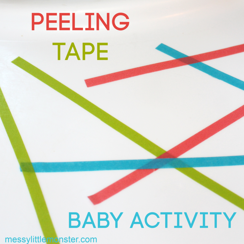 Peeling tape fine motor activity